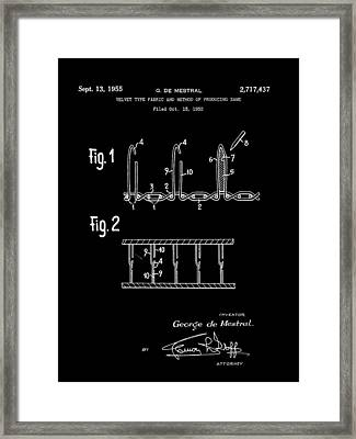 Velcro Patent 1952 - Black Framed Print by Stephen Younts