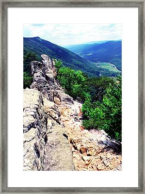View From Atop Seneca Rocks Framed Print by Thomas R Fletcher