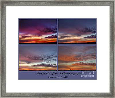 4 Views Of Sunrise 2 Framed Print by Michael Waters