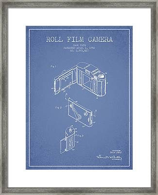 Vintage Roll Film Camera Patent From 1952 Framed Print by Aged Pixel