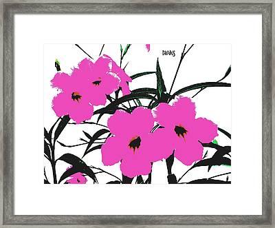 4 Violet Jack Flowers Framed Print
