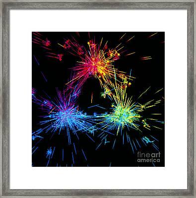 Visualisation Of Quark Structure Framed Print by ArSciMed