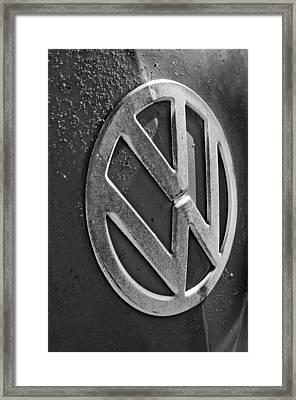 Volkswagen Vw Bus Front Emblem Framed Print