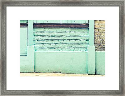 Wall Background Framed Print