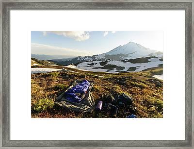 Washington, Cascade Mountains Framed Print by Matt Freedman
