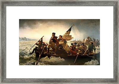 Washington Crossing The Delaware Framed Print