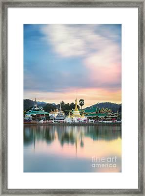 Wat Muang With Gilden Giant Big Buddha Statue Framed Print by Anek Suwannaphoom