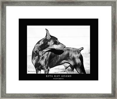 Watchful Framed Print by Rita Kay Adams