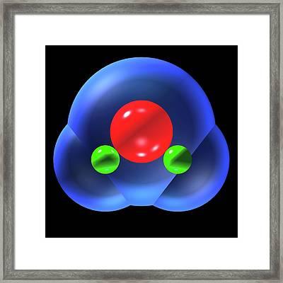 Water Molecule Framed Print