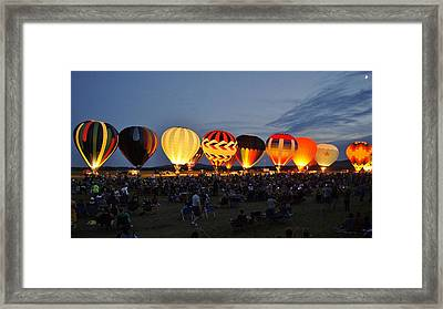 Wausau Hot Air Balloon Festival Framed Print by Carol Toepke