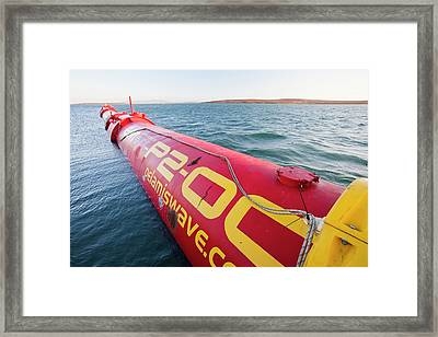Wave Energy Generator Framed Print