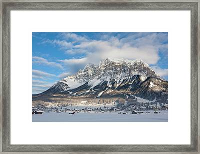 Wetterstein Mountain Chain With Mt Framed Print by Martin Zwick