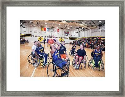 Wheelchair Basketball Framed Print by Jim West
