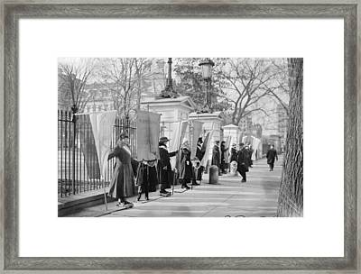 White House Suffragettes Framed Print
