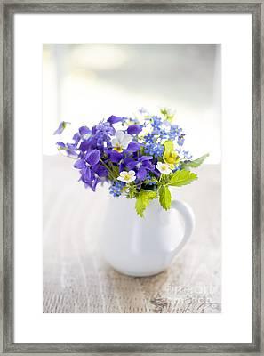 Wildflower Bouquet Framed Print by Elena Elisseeva