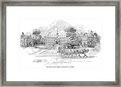 William And Mary College Framed Print by Granger