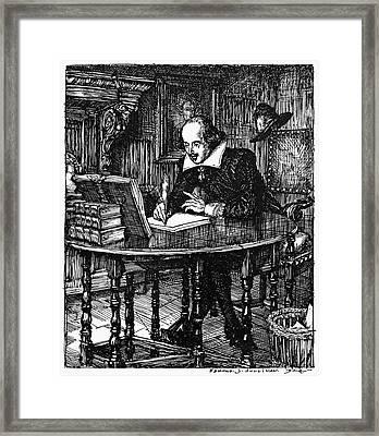 William Shakespeare (1564-1616) Framed Print