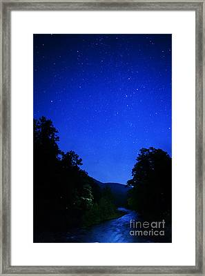 Williams River Summer Solstice Night Framed Print by Thomas R Fletcher