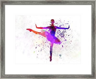 Woman Ballerina Ballet Dancer Dancing  Framed Print by Pablo Romero