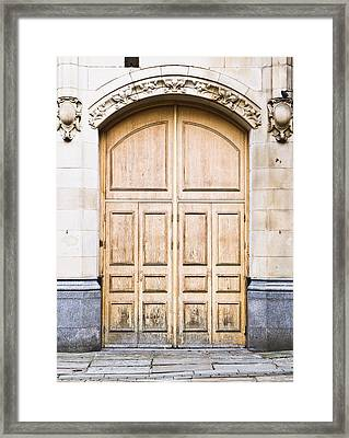 Wooden Door Framed Print by Tom Gowanlock