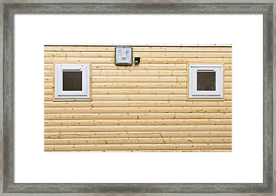 Wooden Wall Framed Print by Tom Gowanlock