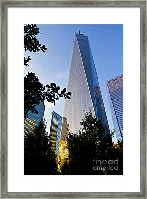 World Trade Center Freedom Tower In Lower Manhattan New York Cit Framed Print by ELITE IMAGE photography By Chad McDermott