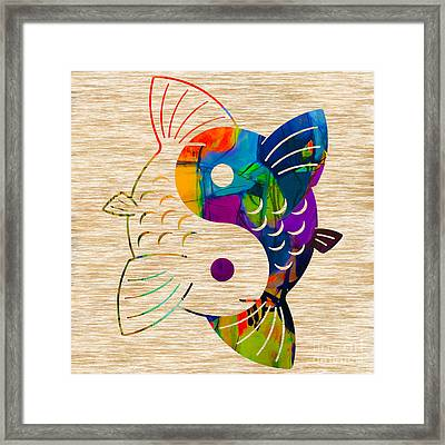 Yin Yang Koi Framed Print by Marvin Blaine