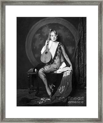 Ziegfeld Showgirl Model - Muriel Finley - Whoopee Framed Print by MMG Archive Prints