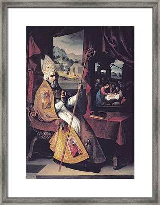 Zurbaran, Francisco De 1598-1664. Saint Framed Print