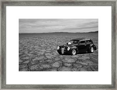40 Flat Framed Print