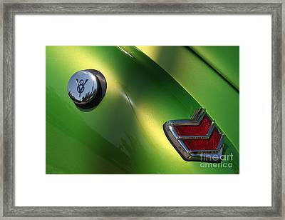 40 Ford - Tank N Tail Light-8527 Framed Print by Gary Gingrich Galleries