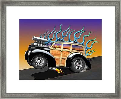 '40 Ford Woody Framed Print by Stuart Swartz