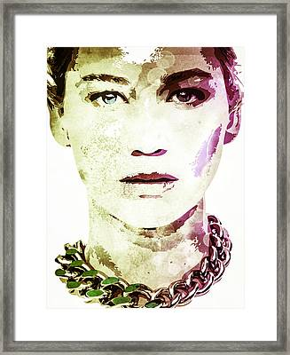 Jennifer Lawrence Framed Print by Svelby Art