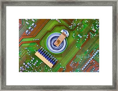 40 Megabytes Framed Print by Nikolyn McDonald