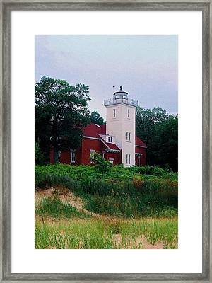 Framed Print featuring the photograph 40 Mile Light by Daniel Thompson