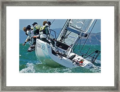 San Francisco Sailing Framed Print by Steven Lapkin