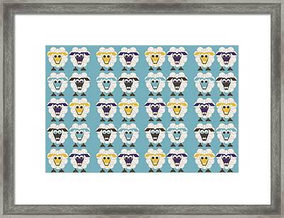 40 Sleep Sheep Framed Print by Asbjorn Lonvig