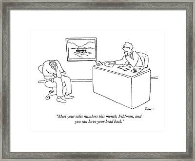 Meet Your Sales Numbers This Month Framed Print