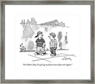 For Father's Day Framed Print