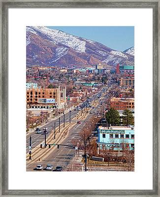 Framed Print featuring the photograph 400 S Salt Lake City by Ely Arsha