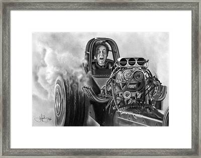4000 Hp Drawing Framed Print by John Harding