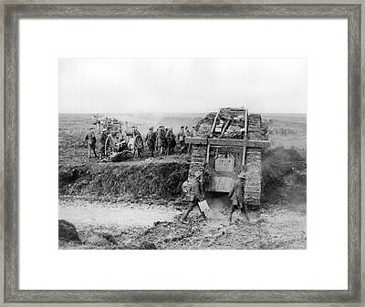 40th Division Tanks In France Framed Print