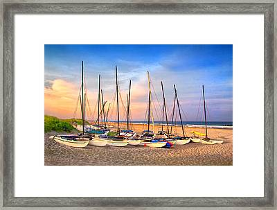 41st Street Sailing Beach Framed Print