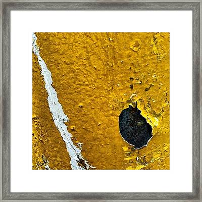 Yellow Post 3 Framed Print