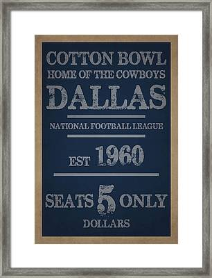 Dallas Cowboys Framed Print by Joe Hamilton