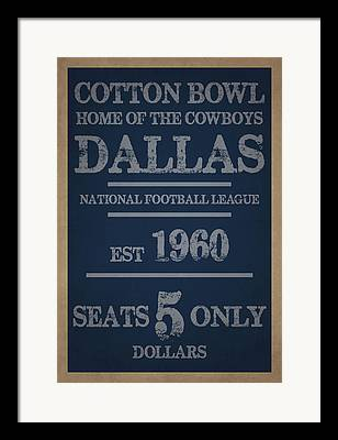 Football Stadium Framed Prints