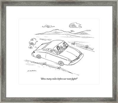 How Many Miles Before Our Next Fight? Framed Print by Michael Maslin