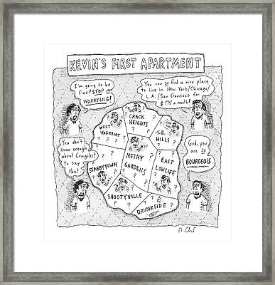 Kevin's First Apartment Framed Print by Roz Chast