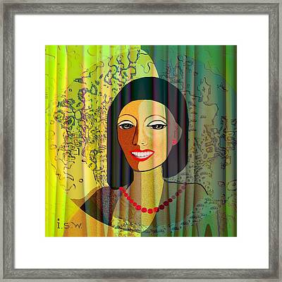 416 - Lady With Nice Teeth Framed Print