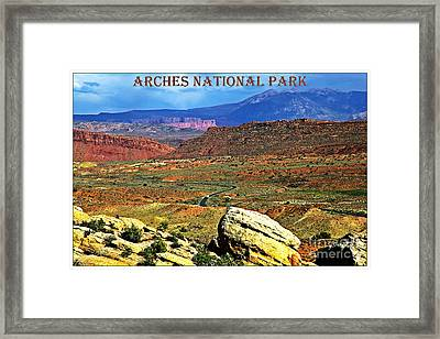 Arches National Park Framed Print by Sophie Vigneault
